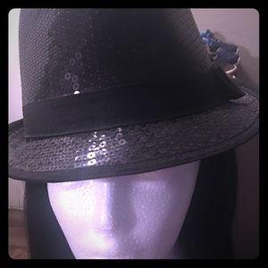 Black sequins hat!